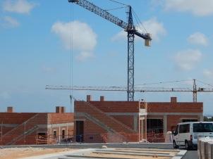 Construction in progress at Lo Romero
